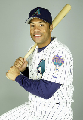 TUCSON, AZ - FEBRUARY 28:  Roberto Alomar #2 of the Arizona Diamondbacks poses for a portrait during Media Day on February  28, 2004 at Tucson Electric Park in Tucson, Arizona.  (Photo by Jeff Gross/Getty Images)