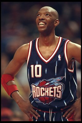 3 Jan 1996:  Sam Cassell of the Houston Rockets looks on during a game against the Chicago Bulls played at the United Center in Chicago, Illinois.  The Bulls won the game, 100-86. Mandatory Credit: Jonathan Daniel/Allsport