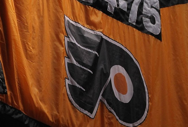 PHILADELPHIA - JUNE 09:  A Philadelphia Flyers Stanley Cup banner hangs during Game Six of the 2010 NHL Stanley Cup Final against the Chicago Blackhawks at the Wachovia Center on June 9, 2010 in Philadelphia, Pennsylvania.  (Photo by Andre Ringuette/Getty