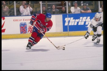 Mar 1989:  Leftwinger Mats Naslund of the Montreal Canadiens. Mandatory Credit: Ken Levine  /Allsport