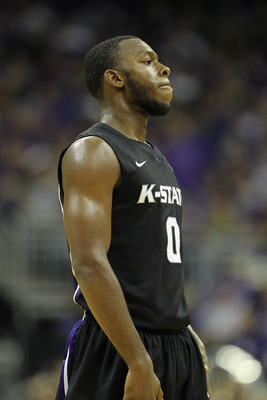 KANSAS CITY, MO - NOVEMBER 22:  Jacob Pullen #0 of the Kansas State Wildcats in action during the CBE Classic game against the Gonzaga Bulldogs on November 22, 2010 at the Sprint Center in Kansas City, Missouri.  (Photo by Jamie Squire/Getty Images)