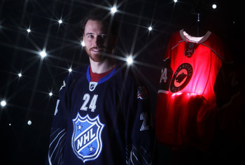 RALEIGH, NC - JANUARY 30:  (EDITORS NOTE: A special effects camera filter was used for this image.) Martin Havlat #24 of the Minnesota Wild of the Minnesota Wild for Team Lidstrom poses for a portrait before the 58th NHL All-Star Game at RBC Center on Jan