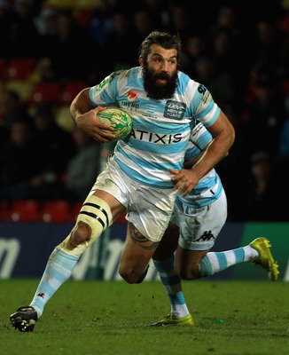 WATFORD, ENGLAND - DECEMBER 11:  Sebastien Chabal of Racing Metro in action during the Heineken Cup Round 3 Pool 2 match between Saracens and Racing Metro at Vicarage Road on December 11, 2010 in Watford, England.  (Photo by Andrew Redington/Getty Images)