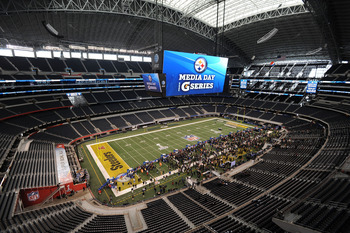 ARLINGTON, TX - FEBRUARY 01:  A general view as the Pittsburgh Steelers attend Super Bowl XLV Media Day ahead of Super Bowl XLV at Cowboys Stadium on February 1, 2011 in Arlington, Texas. The Pittsburgh Steelers will play the Green Bay Packers in Super Bo