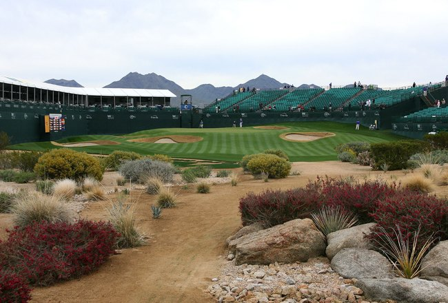 SCOTTSDALE, AZ - FEBRUARY 24: A general view of the 16th hole is seen at the TPC Scottsdale on February 24, 2010 in Scottsdale, Arizona. (Photo by Hunter Martin/Getty Images)