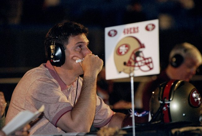 19 Apr 1998:  A representative of the San Francisco 49ers looks on during the second day of the 1998 NFL Draft at Madison Square Garden in Manhattan, New York. Mandatory Credit: Ezra C. Shaw  /Allsport