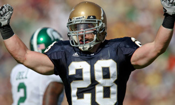 Kyle McCarthy was the leader of the Irish defense his senior year.