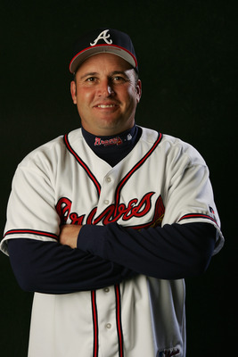 KISSIMMEE, FL - FEBRUARY 28:  Third Base Coach Fredi Gonzalez of the Atlanta Braves poses for a portrait during photo day at Cracker Jack Stadium on February 28, 2005 in Kissimmee, Florida. (Photo by Doug Pensinger/Getty Images)
