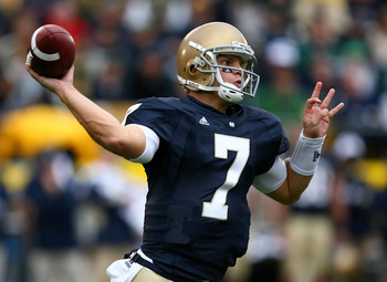 Jimmy Clausen posted one of the best statistical seasons in school history in 2009.