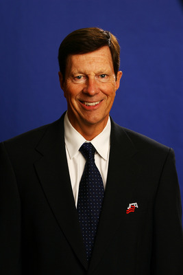 WOODRIDGE, IL - AUGUST 19:  Associate General Manager David Poile poses for a portrait during the USA Olympic Men's Ice Hockey Orientation Camp on August 19, 2009 at Seven Bridges Ice Arena in Woodridge, Illinois.  (Photo by Jamie Squire/Getty Images)