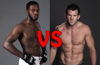 Jon Jones (L) and Ryan Bader (R) will square off on Saturday night in Las Vegas