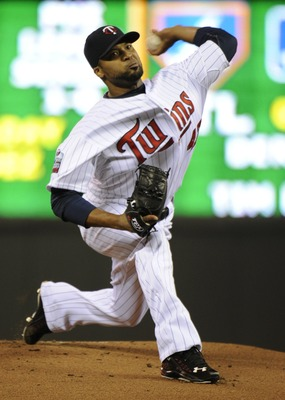 MINNEAPOLIS, MN - OCTOBER 6: Francisco Liriano #47 of the Minnesota Twins pitches during game one of the ALDS against the New York Yankees on October 6, 2010 at Target Field in Minneapolis, Minnesota. (Photo by Hannah Foslien /Getty Images)