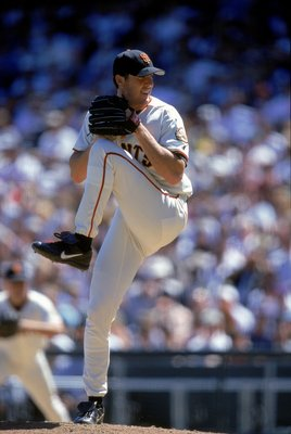 20 Aug 2000:  Pitcher Joe Nathan #36 of the San Francisco Giants winds up for the pitch during the game against the Atlanta Braves at Pac Bell Park in San Francisco, California.  The Braves defeated the Giants 8-5.Mandatory Credit: Tom Hauck  /Allsport