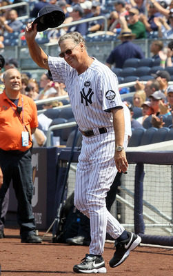 NEW YORK - JULY 17:  Mel Stottlemyre is introduced during the New York Yankees 64th Old-Timer's Day before the MLB game against the Tampa Bay Rays on July 17, 2010 at Yankee Stadium in the Bronx borough of New York City.  (Photo by Jim McIsaac/Getty Image