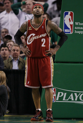 BOSTON - MAY 13:  Mo Williams #2 of the Cleveland Cavaliers reacts after he is called for a foul in the fourth quarter against the Boston Celtics during Game Six of the Eastern Conference Semifinals of the 2010 NBA playoffs at TD Garden on May 13, 2010 in