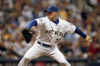 MILWAUKEE - SEPTEMBER 28: Starting pitcher Chris Capuano #39 of the Milwaukee Brewers delivers the ball against the San Diego Padres on September 28, 2007 at Miller Park in Milwaukee, Wisconsin. (Photo by Jonathan Daniel/Getty Images)