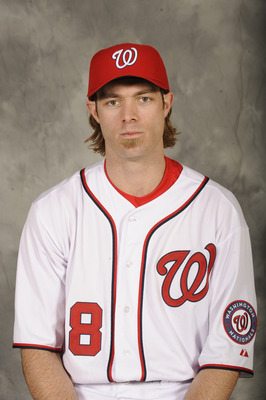 WASHINGTON, DC - DECEMBER 15:  Jayson Werth #28 of the Washington Nationals poses for a portrait before being introduced to the media on December 15, 2010 at Nationals Park in Washington, DC.  (Photo by Mitchell Layton/Getty Images)