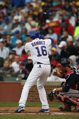 CHICAGO - JULY 8:  Aramis Ramirez #16 of the Chicago Cubs bats against the Atlanta Braves during the game on July 8, 2009 at Wrigley Field in Chicago, Illinois. (Photo by Jonathan Daniel/Getty Images)