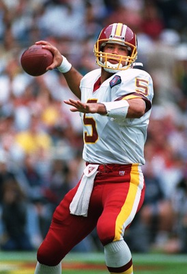 2 Oct 1994: Quarterback Heath Shuler of the Washington Red Skins in action during the Redskins 34-7 loss to the Dallas Cowboys at RFK Stadium in Washington, D.C.