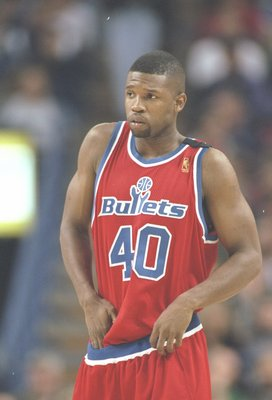 16 Dec 1996:  Forward Calbert Chaney of the Washington Bullets stands on the court during a game against the Sacramento Kings at the Arco Arena in Sacramento, California.  The Bullets won the game 97-89. Mandatory Credit: Otto Greule  /Allsport