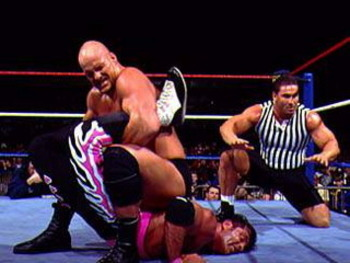 """Stone Cold"" Steve Austin and Bret ""Hitman"" Hart wrestled in one of the most iconic grudge matches of all time at WrestleMania 13. Their match helped launch the career of ""Stone Cold"", and served as the cataylst for one of wrestling's greatest draws."