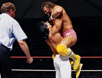 "Randy ""Macho Man"" Savage versus Ricky ""the Dragon"" Steamboat: the greatest match in the history of WrestleMania."