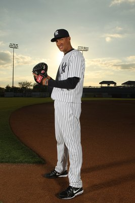 TAMPA, FL - FEBRUARY 25:  Hector Noesi #74 of the New York Yankees poses for a photo during Spring Training Media Photo Day at George M. Steinbrenner Field on February 25, 2010 in Tampa, Florida.  (Photo by Nick Laham/Getty Images)