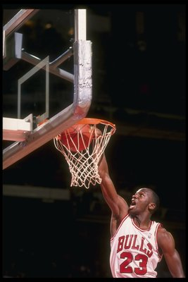 1985-86: Guard Michael Jordan of the Chicago Bulls.