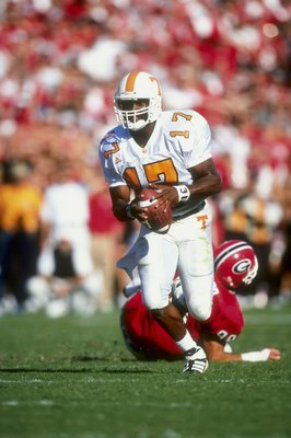 Tee Martin, a decent Hybrid as a Vol, but never made it in the NFL.