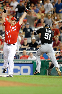 Sorry, the only Adam Dunn/White Sox Picture I could find. (Rios is safe)