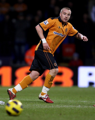BOLTON, ENGLAND - FEBRUARY 01: Jamie O'Hara of Wolves in action during the Barclays Premier League match between Bolton Wanderers and Wolverhampton Wanderers at Reebok Stadium on February 2, 2011 in Bolton, England.  (Photo by Scott Heavey/Getty Images)