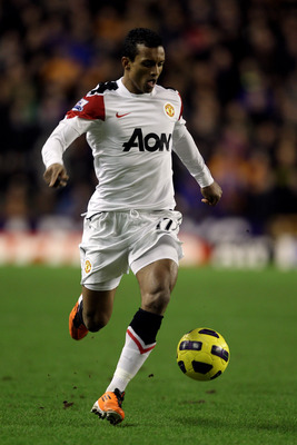 WOLVERHAMPTON, ENGLAND - FEBRUARY 05:  Nani of Manchester United in action during the Barclays Premier League match between Wolverhampton Wanderers and Manchester United at Molineux on February 5, 2011 in Wolverhampton, England.  (Photo by Michael Steele/