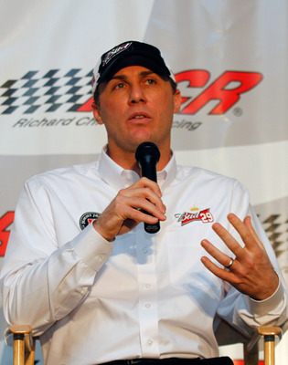 WELCOME, NC - JANUARY 25: Kevin Harvick, driver of the #29 Budweiser Chevrolet, speaks to the media during the NASCAR Sprint Media Tour hosted by Charlotte Motor Speedway, held at Richard Childress Racing on January 25, 2011 in Welcome, North Carolina. (P