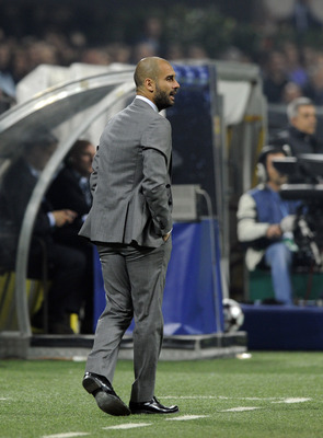 MILAN, ITALY - APRIL 20:  Barcelona Head Coach Josep Guardiola during the UEFA Champions League Semi Final First Leg match between Inter Milan and Barcelona at Giuseppe Meazza Stadium on April 20, 2010 in Milan, Italy.  (Photo by Claudio Villa/Getty Image