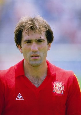 Jul 1986:  A portrait of Andoni Goicoechea of Spain taken before the start of world cup match against Algeria in Mexico. Mandatory Credit: Mike King/Allsport