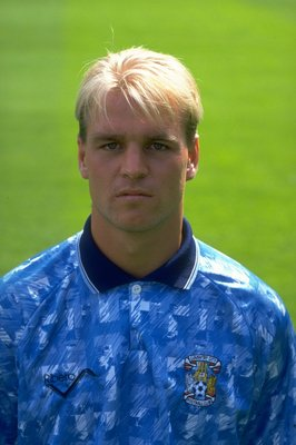 1992:  Portrait of David Busst of Coventry City. \ Mandatory Credit: Anton  Want/Allsport