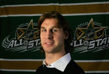 DALLAS - JANUARY 22:  Ryan Smyth of the Western Conference All-Stars (Edmonton Oilers) poses for a portrait for the 2007 NHL All-Star Game at the American Airlines Center on January 22, 2007 in Dallas, Texas.  (Photo by Ronald Martinez/Getty Images)