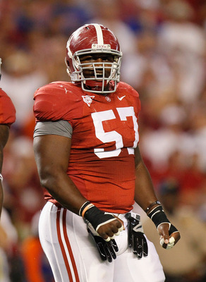 TUSCALOOSA, AL - OCTOBER 02:  Marcell Dareus #57 of the Alabama Crimson Tide against the Florida Gators at Bryant-Denny Stadium on October 2, 2010 in Tuscaloosa, Alabama.  (Photo by Kevin C. Cox/Getty Images)