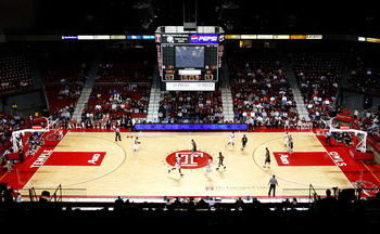 PHILADELPHIA, PA - DECEMBER 18:  A general view of John Chaney and Harry Litwack court as the Temple Owls play against the Northern Illinois Huskies at the Liacouras Center on December 18, 2010 in Philadelphia, Pennsylvania.  (Photo by Chris Chambers/Gett