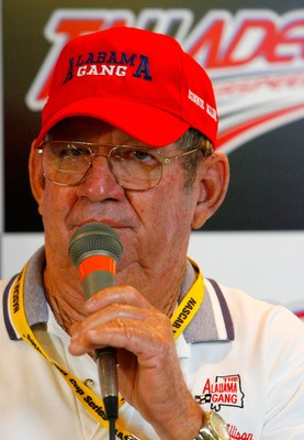 TALLADEGA, AL - OCTOBER 05:  Former NASCAR driver Donnie Allison, speaks during a press conference at Talladega Superspeedway on October 5, 2007 in Talladega, Alabama.  (Photo by Rusty Jarrett/Getty Images for NASCAR)