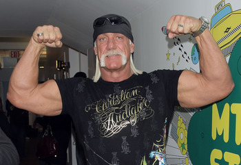 NEW YORK - JANUARY 07:  (U.S. TABS OUT)  TV personality Hulk Hogan poses for a photo backstage during MTV's Total Request Live at the MTV Times Square Studios January 7, 2008 in New York City.  (Photo by Scott Gries/Getty Images)