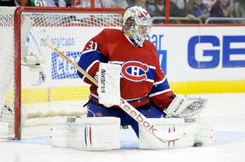 WASHINGTON, DC - FEBRUARY 01:  Carey Price #31 of the Montreal Canadiens makes a save against the Washington Capitals at the Verizon Center on February 1, 2011 in Washington, DC.  (Photo by Greg Fiume/Getty Images)