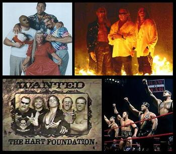 The Oddities, The Brood, The New Hart Foundation and The Nation Of Domination.