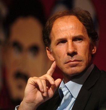BEIJING, CHINA - JULY 6: (CHINA OUT) Franco Baresi, formerly of AC Milan, attends a press conference to help promote the new 'Milan Junior Camp' on July 6, 2006 in Beijing, China. (Photo by China Photos/Getty Images)