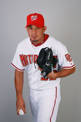 VIERA, FL - FEBRUARY 28:  Pitcher Joel Peralta #52 of the Washington Nationals poses during photo day at Space Coast Stadium on February 28, 2010 in Viera, Florida.  (Photo by Doug Benc/Getty Images)