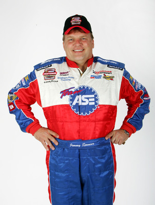 DAYTONA BEACH, FL - FEBRUARY 16: Portrait of Jimmy Spencer, driver of the NASCAR Craftsman Truck Series #2 Team ASE Dodge, at the NASCAR Nextel Cup Daytona 500 at Daytona International Speedway February 16, 2005 in Daytona Beach, Florida.  (Photo by Stree