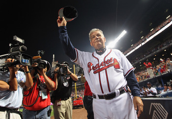 Bobby Cox waves goodbye to the place he's called home for the last two decades.