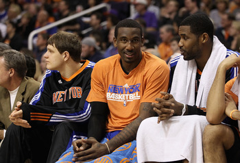 PHOENIX, AZ - JANUARY 07:  Amar'e Stoudemire #1 of the New York Knicks during the NBA game against the Phoenix Suns at US Airways Center on January 7, 2011 in Phoenix, Arizona.  NOTE TO USER: User expressly acknowledges and agrees that, by downloading and