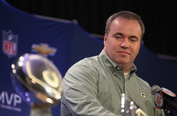 DALLAS, TX - FEBRUARY 07:  Head coach Mike McCarthy of the Green Bay Packers speaks to the media during a press conference at Super Bowl XLV Media Center on February 7, 2011 in Dallas, Texas.  (Photo by Streeter Lecka/Getty Images)