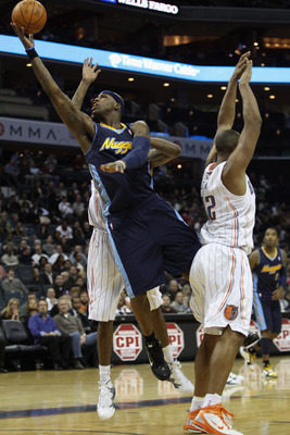 CHARLOTTE, NC - DECEMBER 07:  Al Harrington #7 of the Denver Nuggets against the Charlotte Bobcats during their game at Time Warner Cable Arena on December 7, 2010 in Charlotte, North Carolina.  NOTE TO USER: User expressly acknowledges and agrees that, b